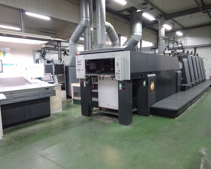 HEIDELBERG CD 74-5+LX (IR/UV), Year 2005